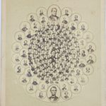LJTP 100.024 - Abraham Lincoln collage with those who voted for the 13th Amendment in the U.S. Congress - 1865