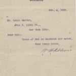 LJTP 200.024 - U.S. Senator William B. Allison to Louis Harris - 1902