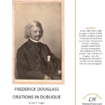 Frederick Douglass - Orations in Dubuque