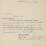 LJTP 200.030 - U.S. Rep David B. Henderson to C.E. Cawley - 1898