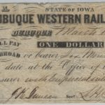 LJTP 400.012 - The Dubuque Western Rail Road Company $1 Note - 1858