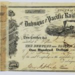 LJTP 400.013 - Dubuque and Pacific RR Stock Certificate - 1859