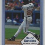 LJTP 100.078 - Deion Sanders - Dubuque Plumpers – Atlanta Braves Baseball Card - 1991