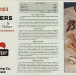 LJTP 700.021 - Dubuque Plumpers – Atlanta Braves Pocket Schedule - 1981