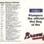 LJTP 700.022 - Dubuque Plumpers – Atlanta Braves Pocket Schedule - 1989