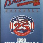 LJTP 700.023 - Dubuque Plumpers – Atlanta Braves Pocket Schedule - 1990