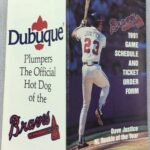 LJTP 700.024 - Dubuque Plumpers – Atlanta Braves Pocket Schedule - 1991