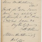 LJTP 200.044 - U.S. Sen. Wm B. Allison to Stilson Hutchins - 1888