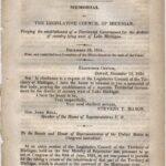 LJTP 300.008 - Congressional Record - Michigan Territory Governament - 1835