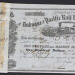 LJTP 400.016 - Dubuque and Pacific RR Stock Certificate - DN Cooley - 1858
