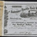 LJTP 400.017 - Dubuque and Pacific RR Stock Certificate - 1859