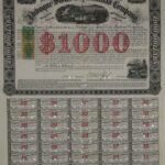 LJTP 400.021 - Dubuque & Sioux City Railroad $1000 Bond - 1867