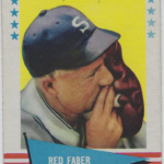 LJTP 800.016 - Red Faber 1961 Fleer #24 Baseball Card