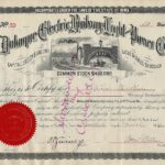 LJTP 400.023 - Dubuque Electric Railway, Light and Power Company - 1891