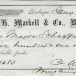 LJTP 400.025 - H. Markell & Co Bankers Check - 1861