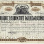 LJTP 400.026 - Dubuque & Sioux City Railroad Stock - James A. Roosevelt - 1885