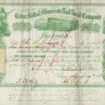 LJTP 400.031 - Cedar Falls & Minnesota Railroad Stock - 1868