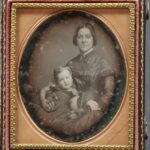 LJTP 100.150 - Samuel Root - Daguerreotype of Young Woman and Child - circa 1850