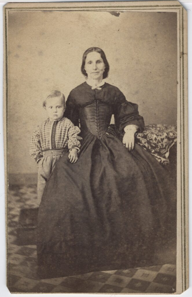 LJTP 100.161 - Samuel Root - Woman and Son - c1865