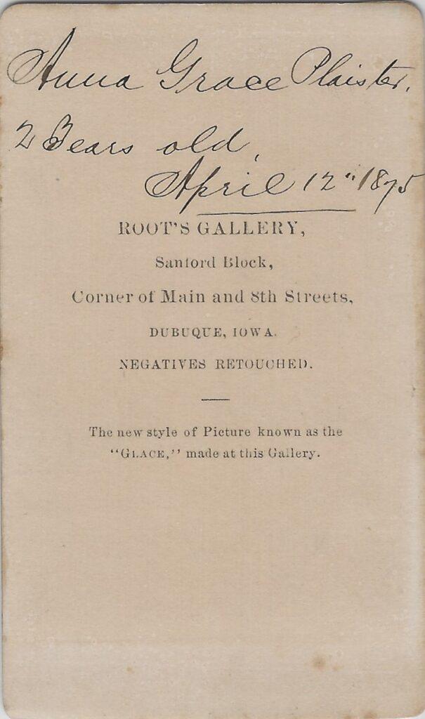 LJTP 100.169.001 - Samuel Root - Baby Girl - 1875
