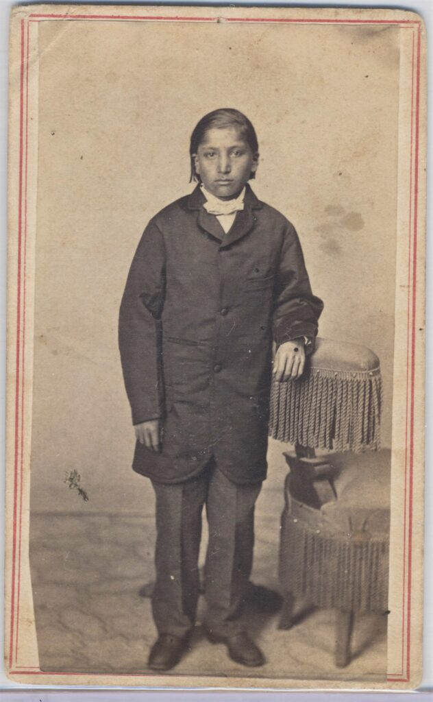 LJTP 100.182 - Native American Boy by S. Root - c.1860