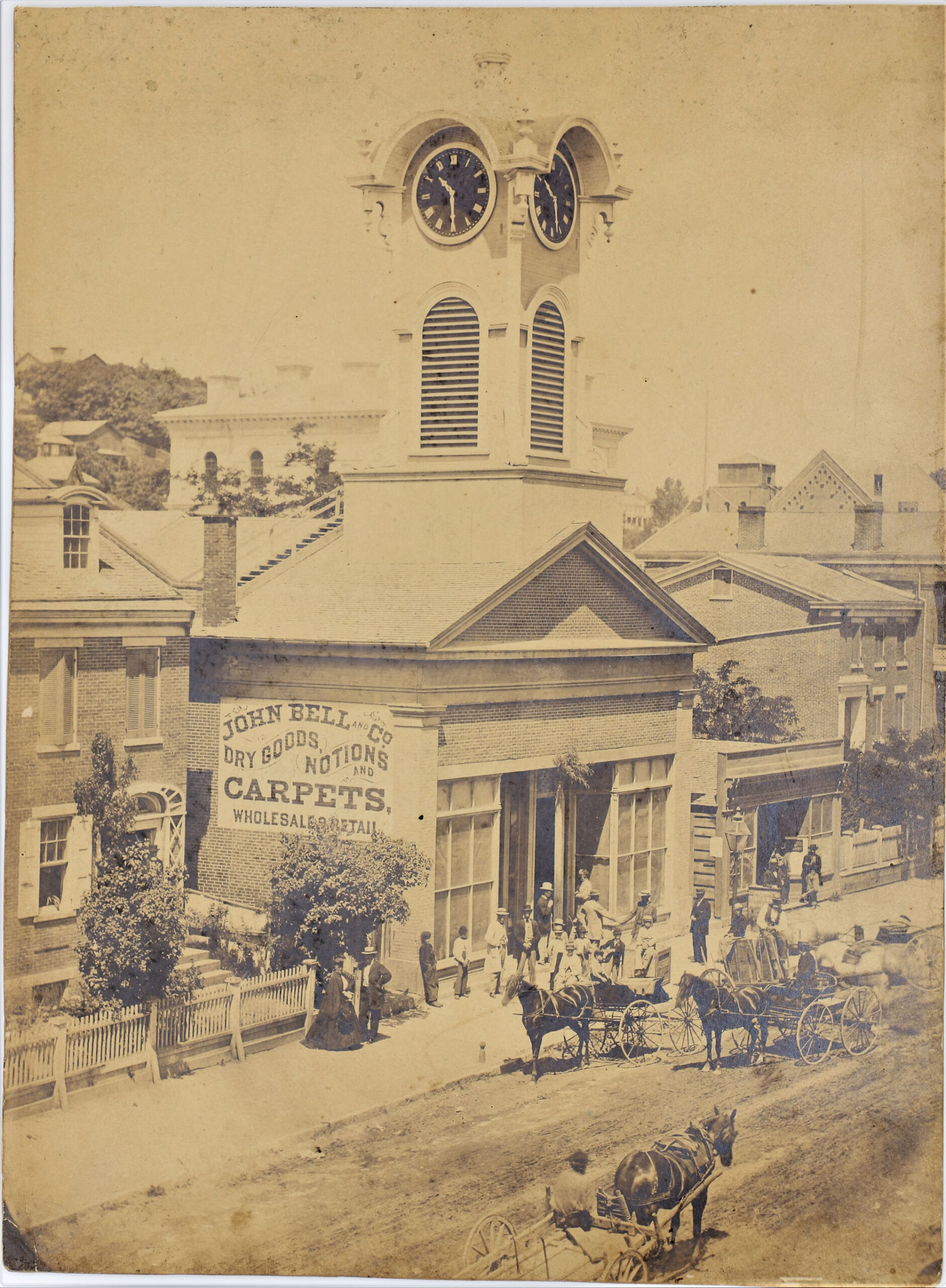 LJTP 100.187 - Dubuque Town Clock by S. Root - c.1870