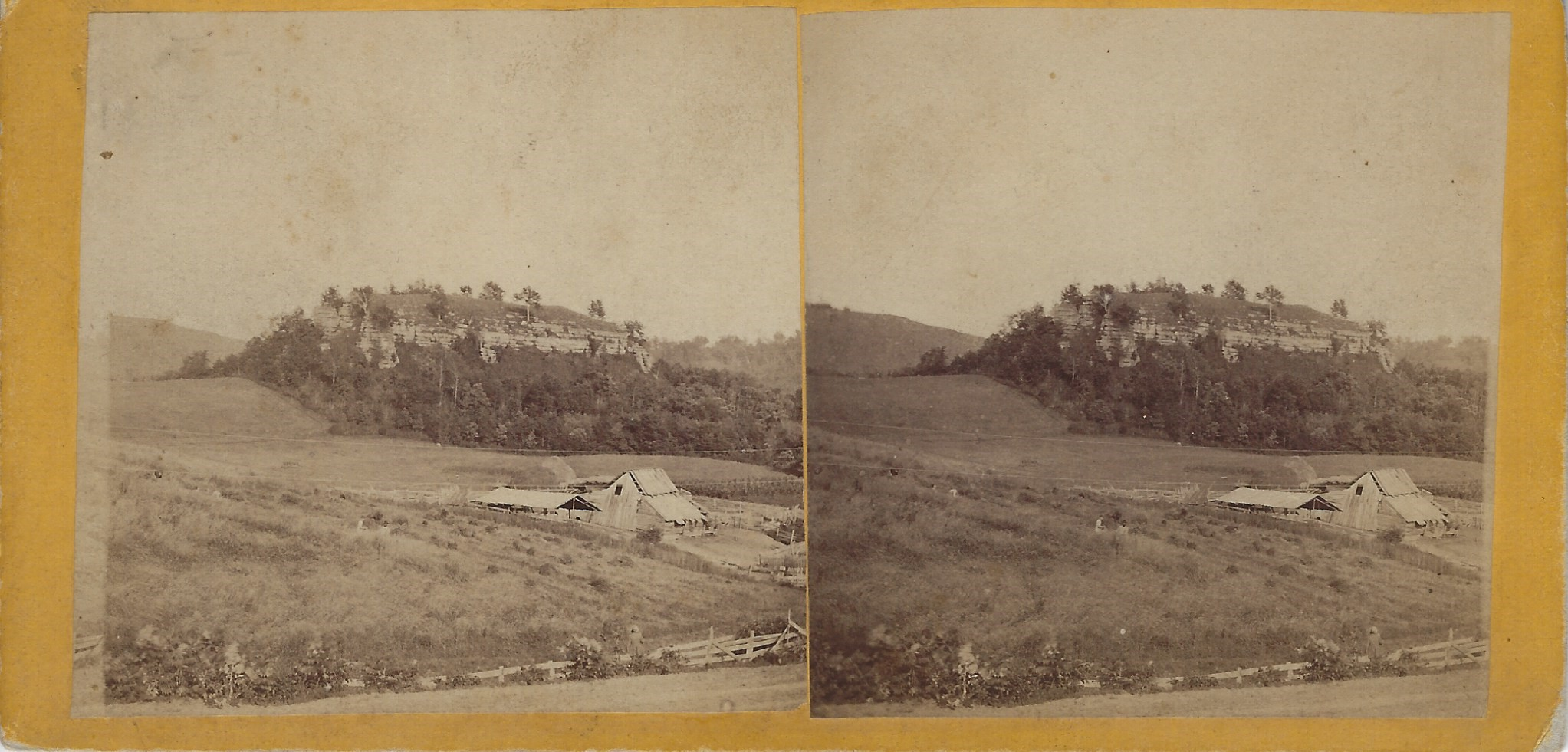 LJTP 100.223 - S. Root SMT- Mound at Thompson's Mill - c1870