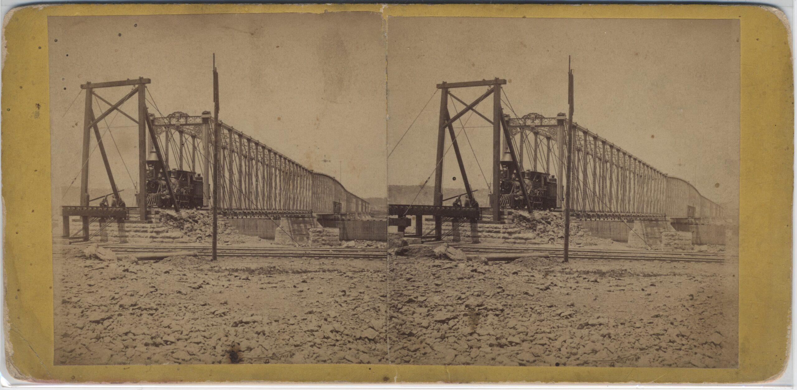 LJTP 100.239 - S. Root - Dunleith & Dubuque RR Bridge - 1869