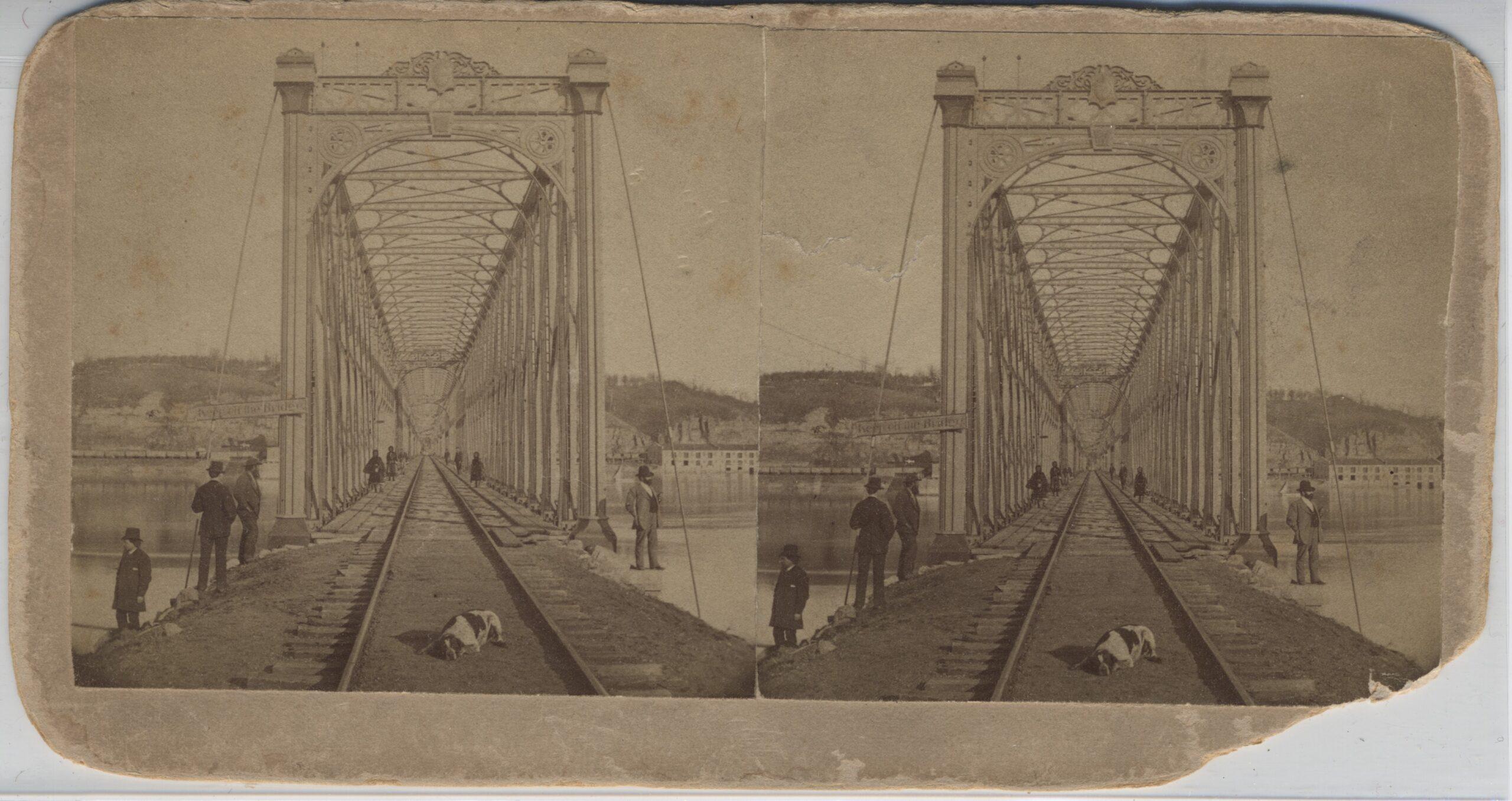 LJTP 100.240 - S. Root - Dunleith & Dubuque RR Bridge - 1869