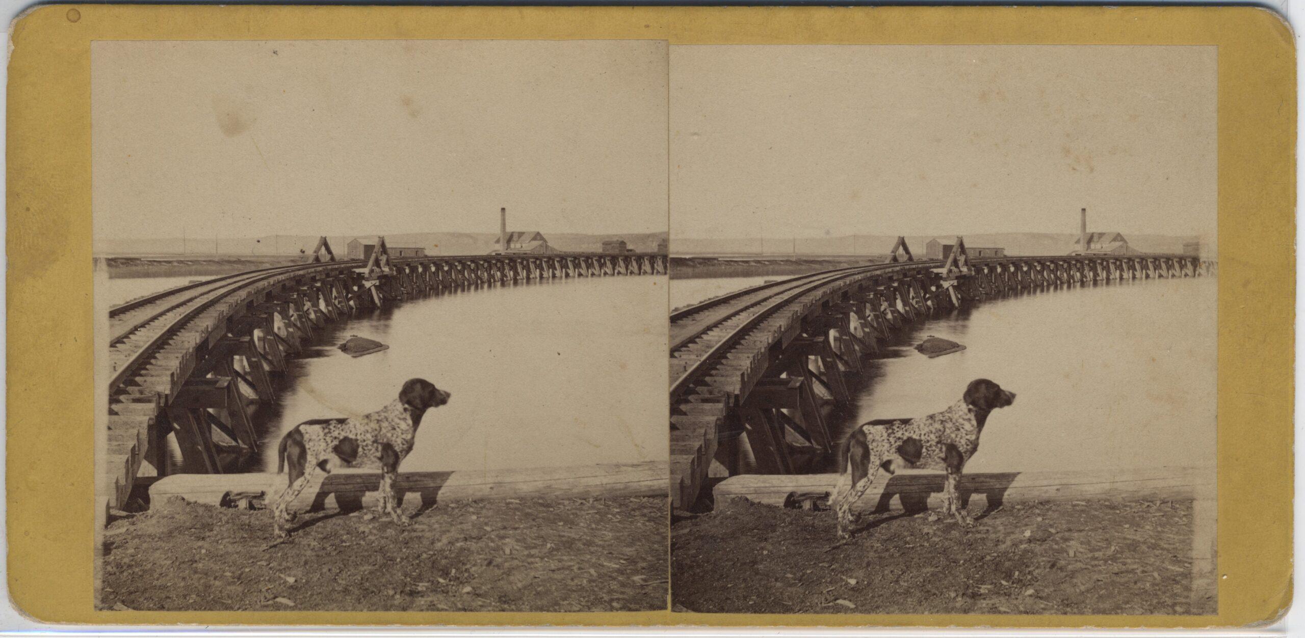 LJTP 100.243 - S. Root - Railroad Bridge Approach - c1870
