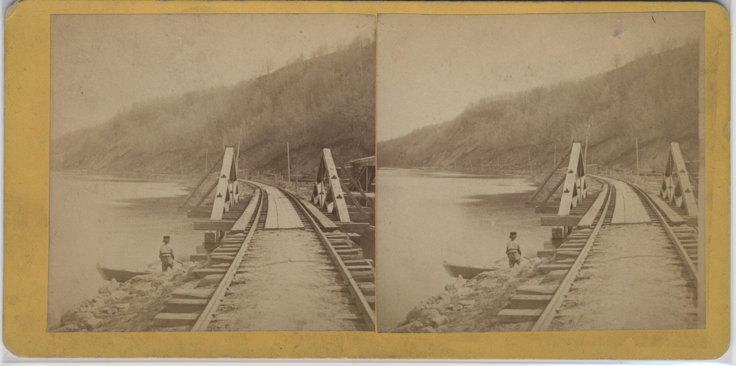 LJTP 100.245 - S. Root - Railroad Tracks South of Dubuque - c1870