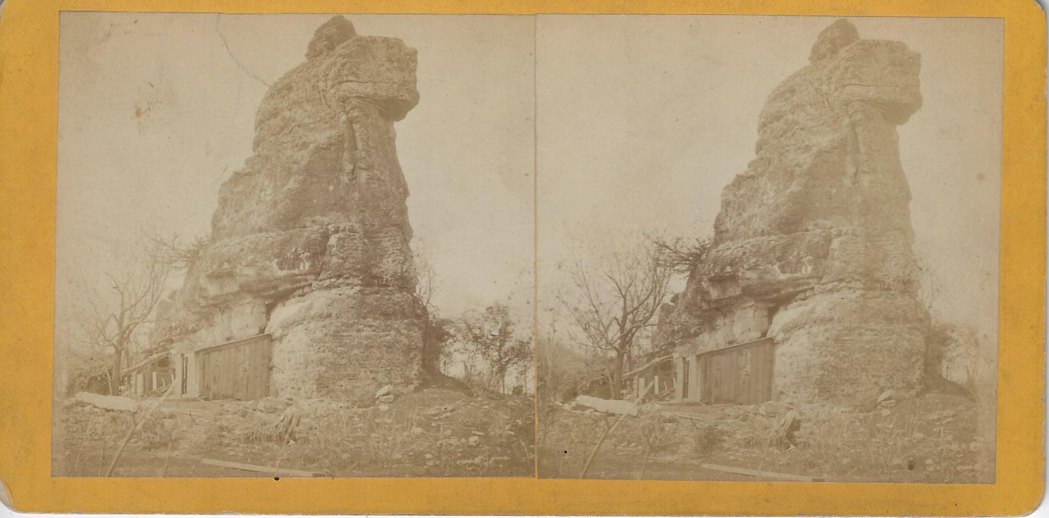 LJTP 100.284.2 - S. Root - Tower Rock near Iowa Falls - c1875