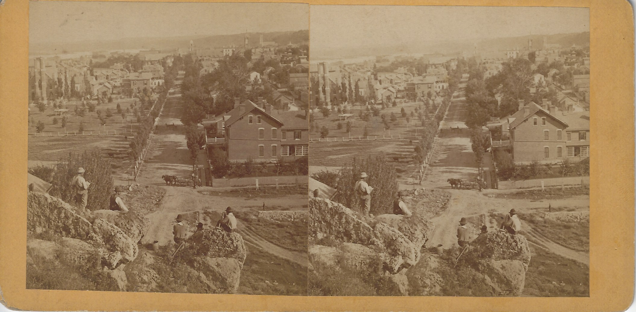 LJTP 100.288 - S. Root - 17th & Main St from Seminary Hill - c1875