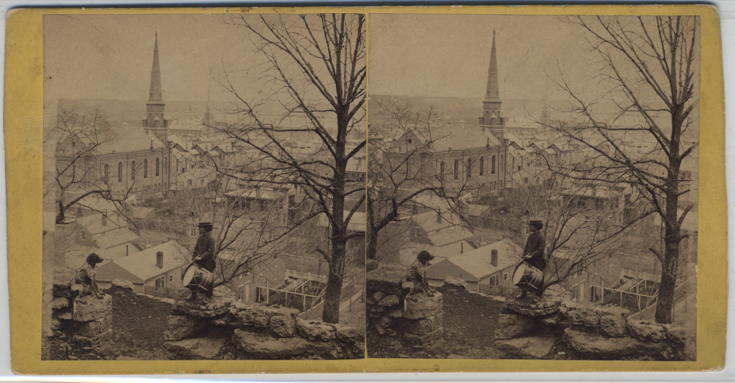 LJTP 100.300 - S. Root - Grove Terrace looking at Westminster Presbyterian Church - c1880